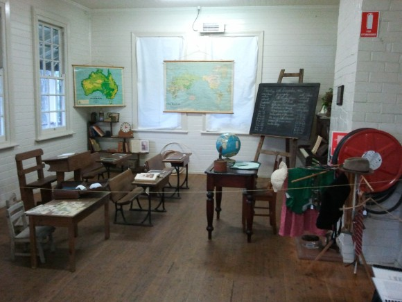 A classroom from yesteryear.