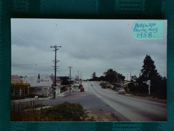 The Pacific Highway in 1958. Photo by Shirley Collins
