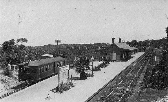 """The Squirt"" at Berowra Railway Station.   Photo courtesy of Kath Baigent"