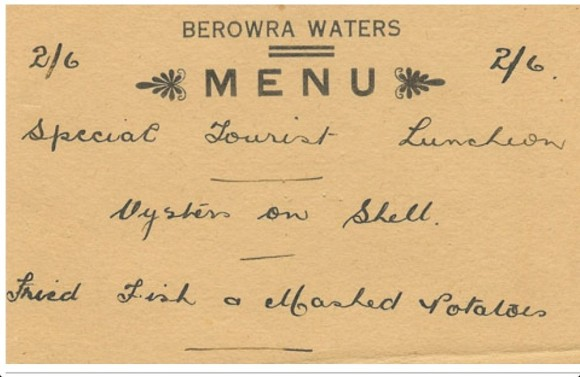 Berowra Inns menu