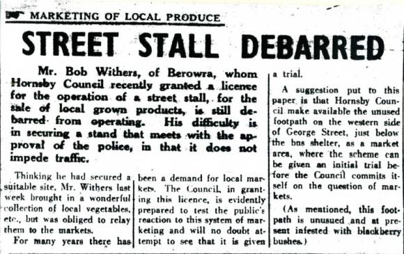The Hornsby & District Advocate Thursday April 3,1952 (on microfilm Hornsby Shire Library-Local Studies)