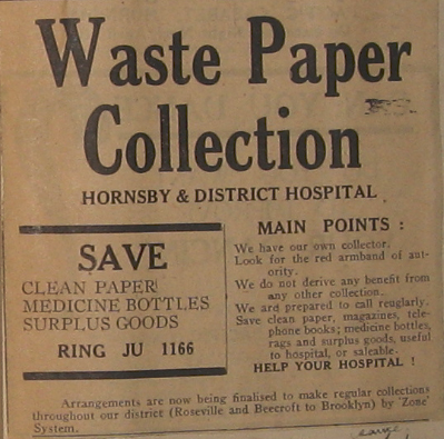 Waste paper collection