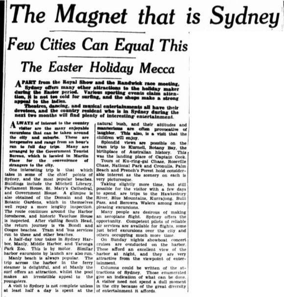 March 12, 1936 in The Farmer And Settler.  Retrieved from http://trove.nla.gov.au/ndp/del/page/11756454