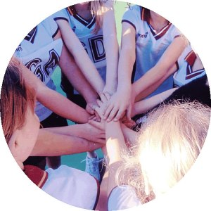 All Hands In  -  Berowra Netball 9A team of recent years