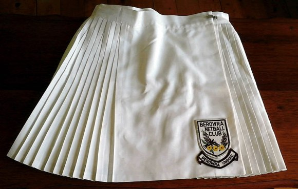 Berowra Netball Club umpire's skirt