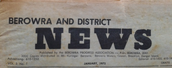 2015-12-30 11.45.56 Berowra News Paper banner  Jan 1972  2