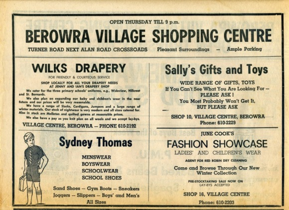 iBerowra Shopping001  May 73  B erowra & District news