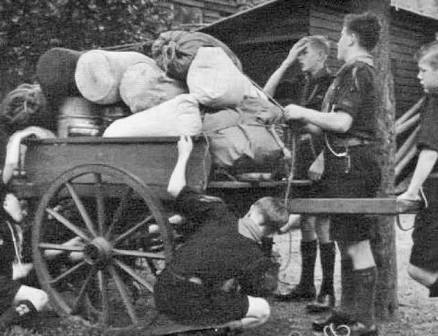 Scouts with their trek cart